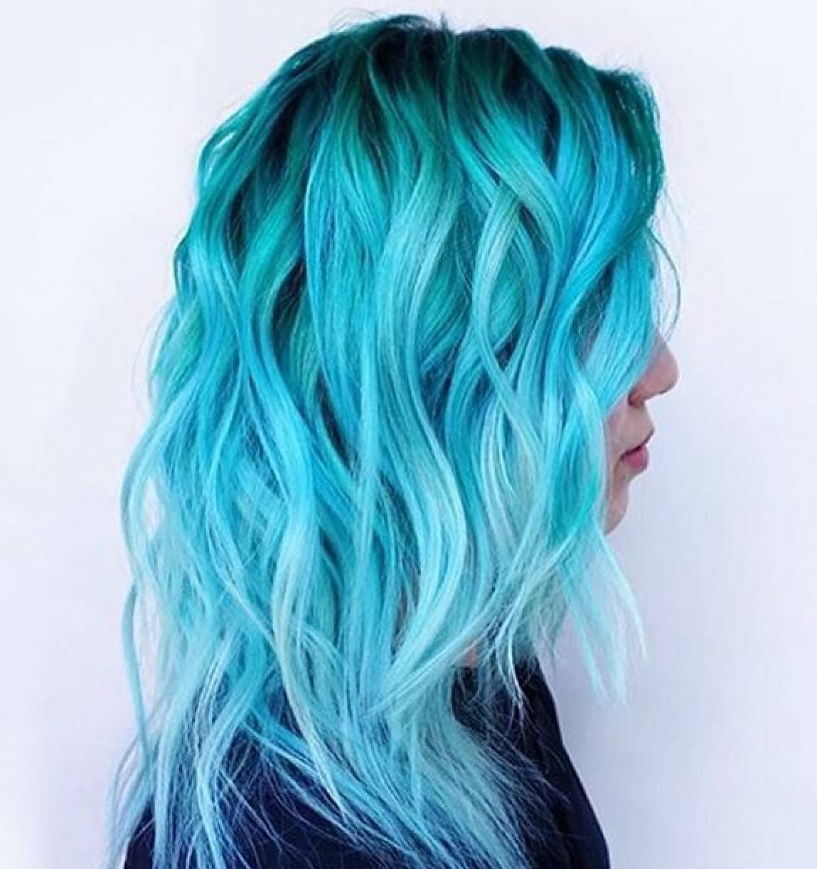 Light Blue With Shaded Root