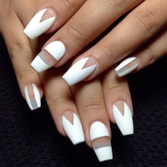 Bold White Geometric Designs with Negative Space