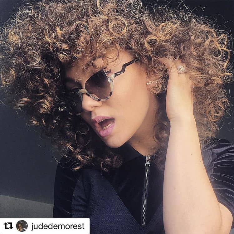 Curly Modern Twist To The Disco Style