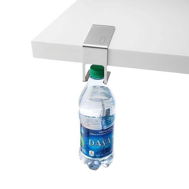 Cluttered Desk? Save Room with a Bottle Hanger