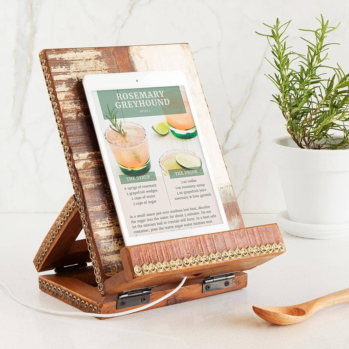 Reclaimed Wood Cookbook Stand for Her