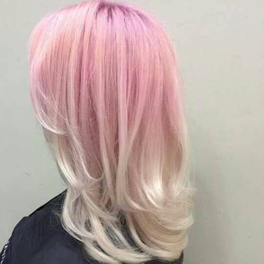 A hint of Tint Pink Reverse Ombre