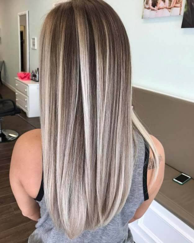 Sleek and Simple Long Balayage