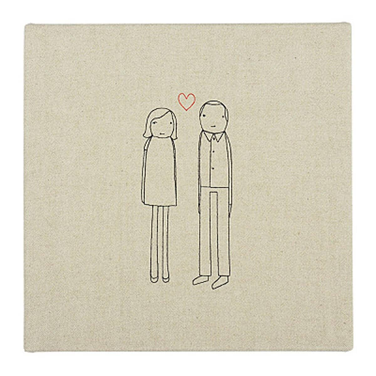 Personalized Favorite Couple Textile Art