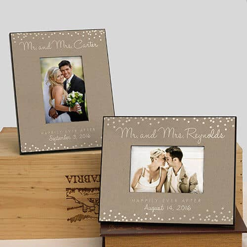 Personalized Mr. and Mrs. Wedding Frame