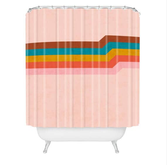 Retro and Colorful Shower Curtain Design