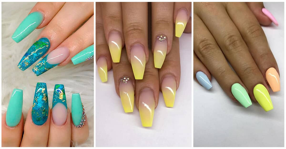 50 Awesome Coffin Nails Designs You Ll Flip For In 2020