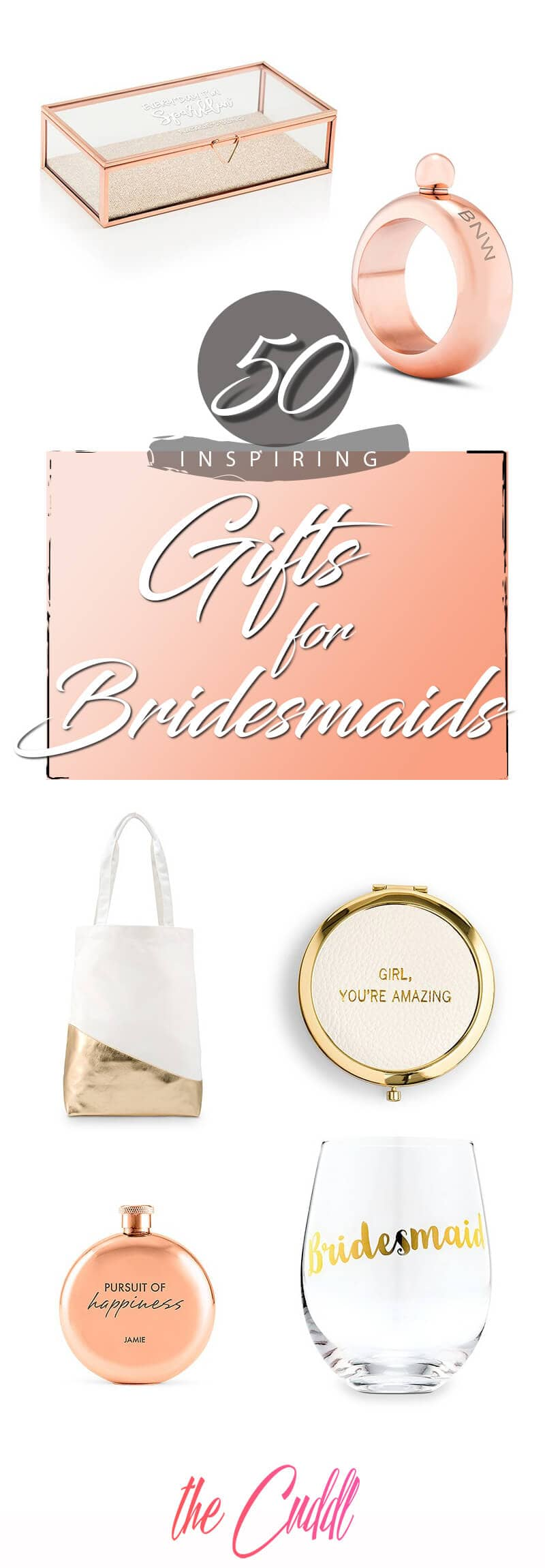 50 Unique Bridesmaid Gifts to Help You and Your Ladies Make Memories