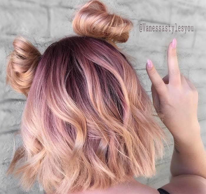 Cute Reverse Ombre Blonde and Pink Hair