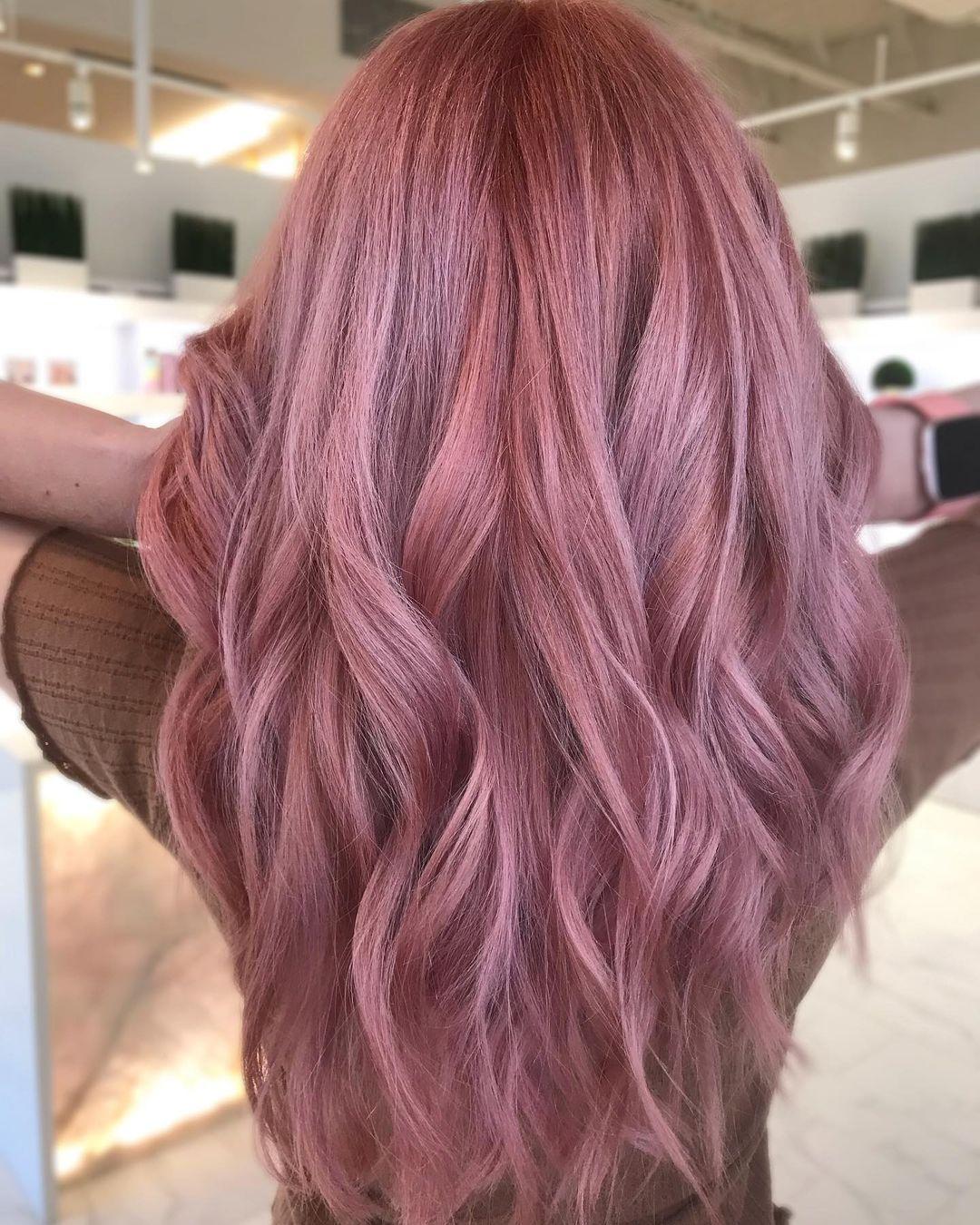 Waist-Length, Pastel Pink Waves