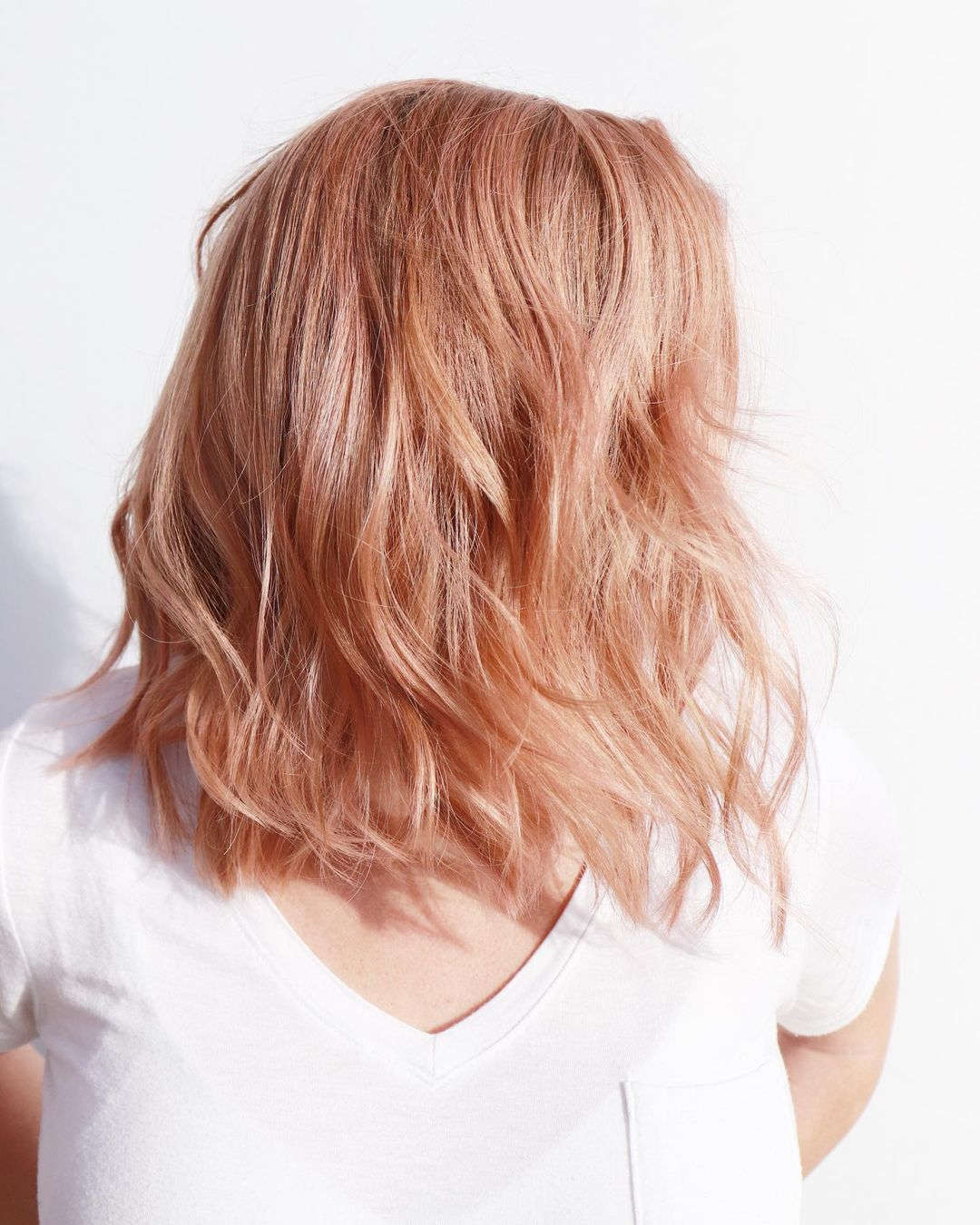 Chest-Length Strawberry blond Layers