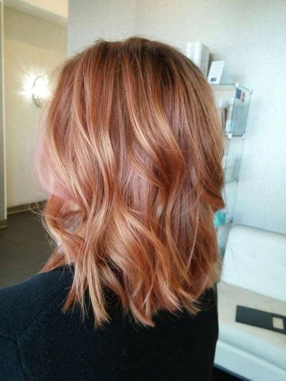 Wavy Simple Blonde Hair With Pink Highlight