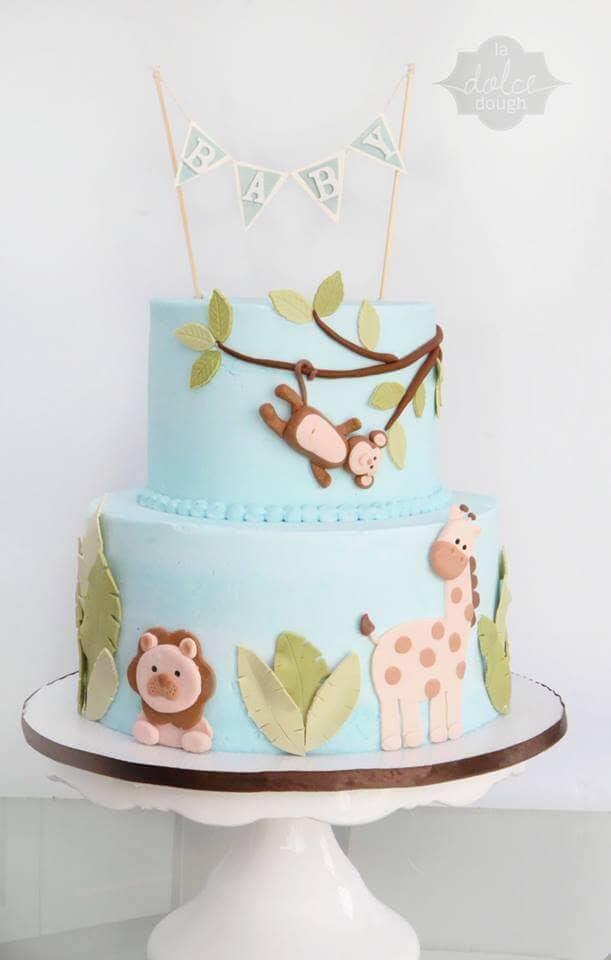 Joyful Jungle Gender Neutral Cake Idea