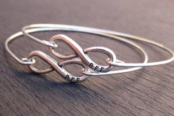 Silver Infinity Best Friend Bracelets for 2