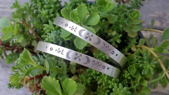 Uniquely Etched Friendship Totem Bracelet