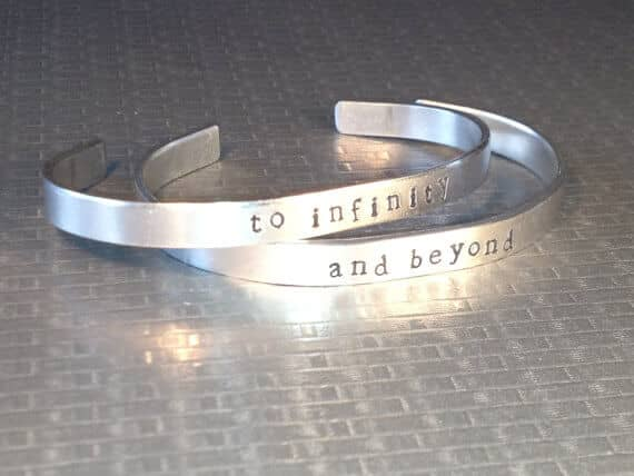 """Aluminum """"To Infinity, And Beyond"""" Best Friend Jewelry"""