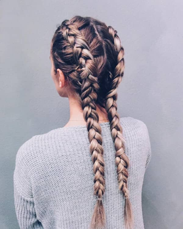 Tight Double Dutch Braiding in Back