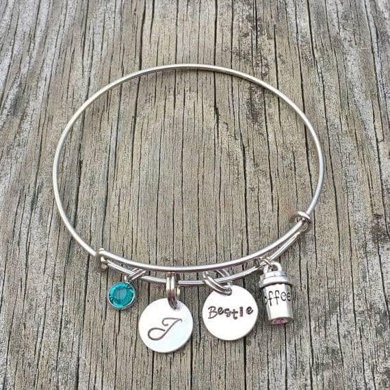Beautiful Birthstone and Initial Charm Bracelet