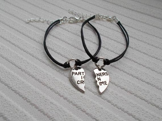 Matching Partners in Crime Companion Bracelets