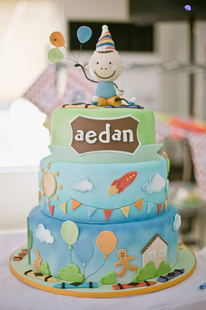 Happy Baby Shower Cake for Boys