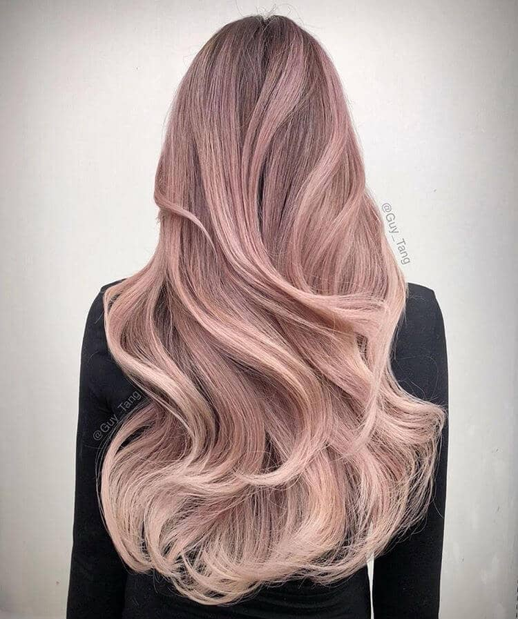 Silky Blonde and Pink Ombre Glamorous Hair