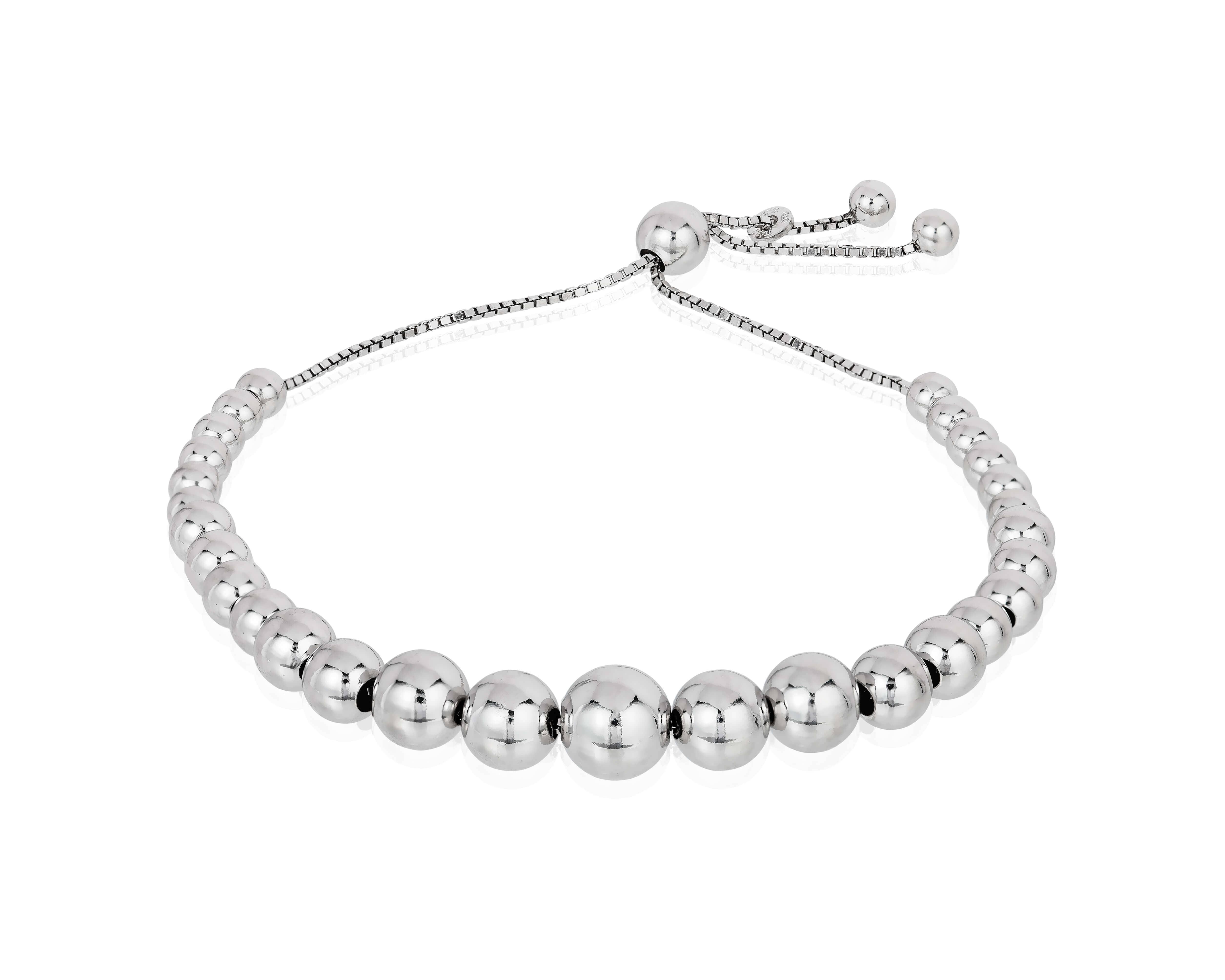 Beaded Sterling Silver Best Friend Bracelet