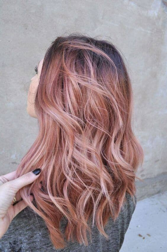 Cute Hair Colors, Natural Roots, Rosy Balayage
