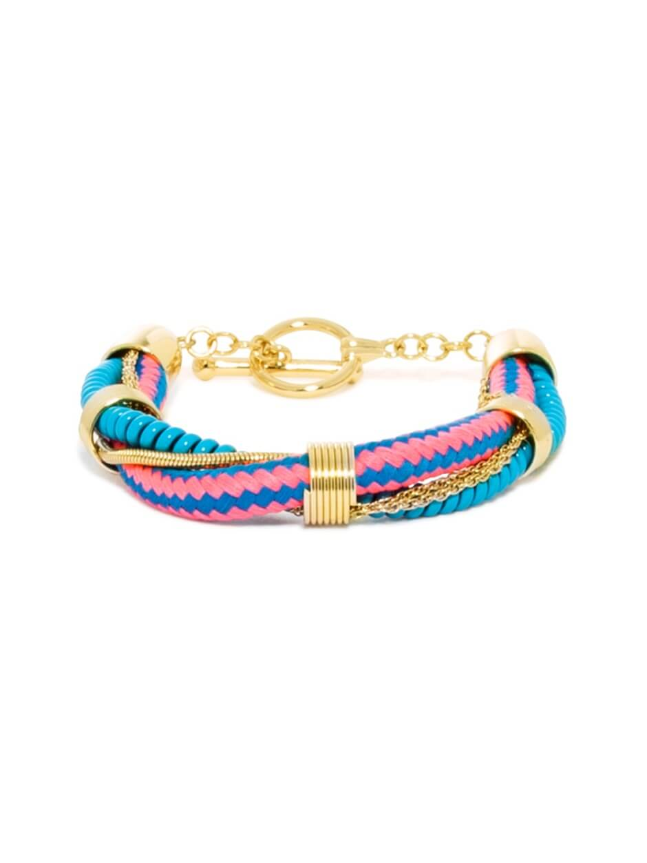 Unique and Unusual Twisted Multi-Color Bracelet