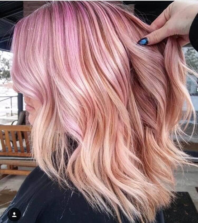 Vibrant Reverse Ombre With Bright Pink Roots