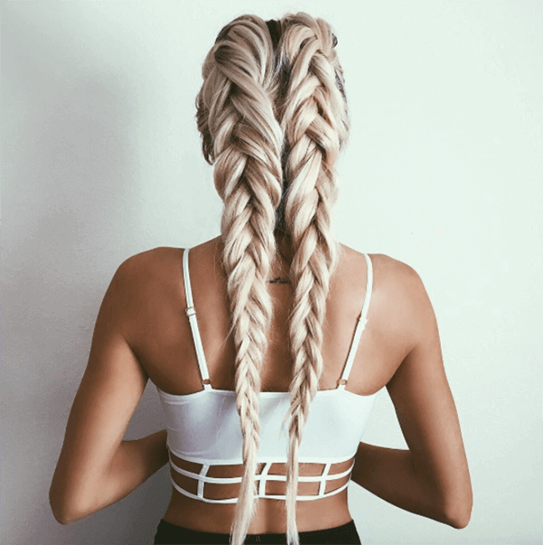 Striking Two Braids That Go on Forever