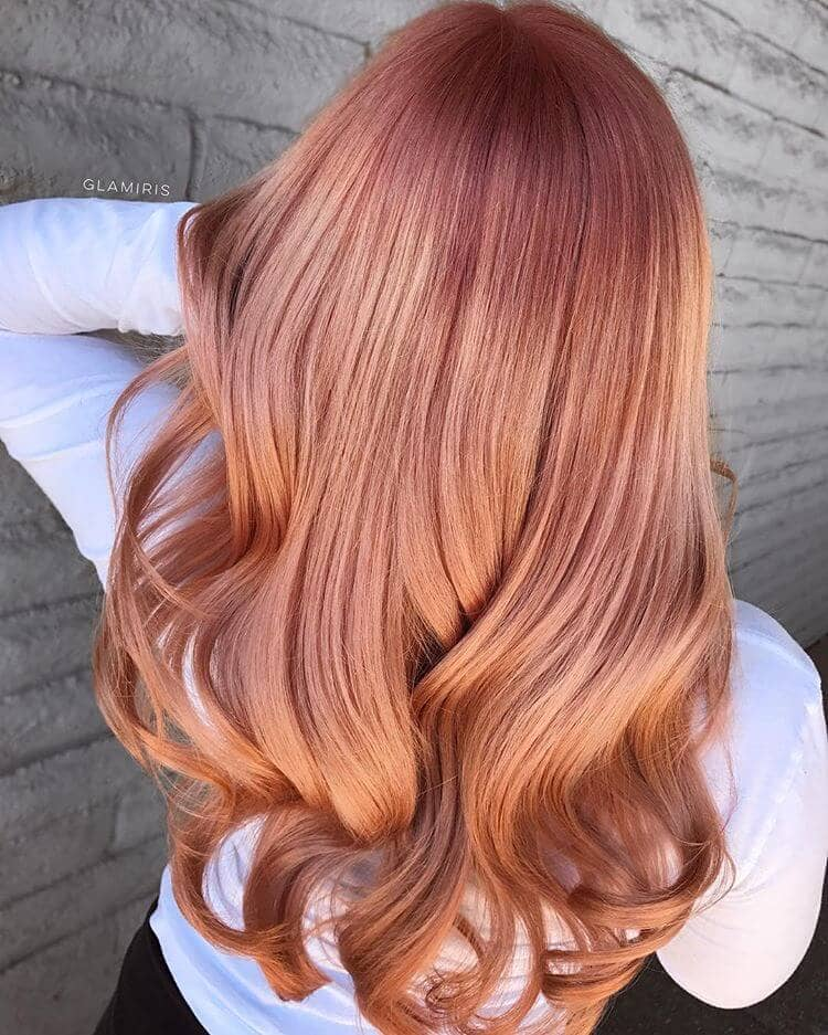Beautifully Blended Rose Gold Redhead, Subtle Highlights