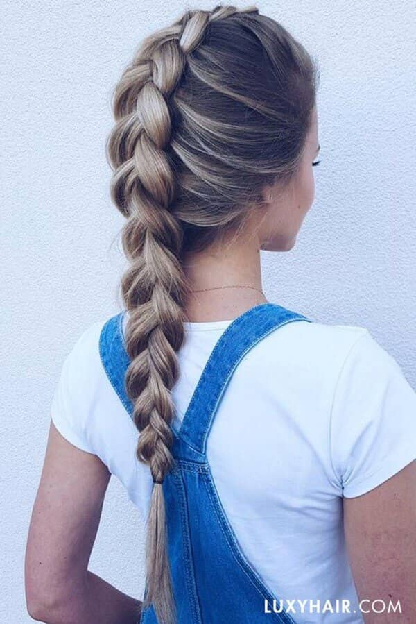 A Single Center Braid from Front to Back