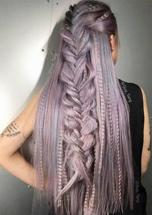 Textured, Metallic Hair Has Modern Sensibility