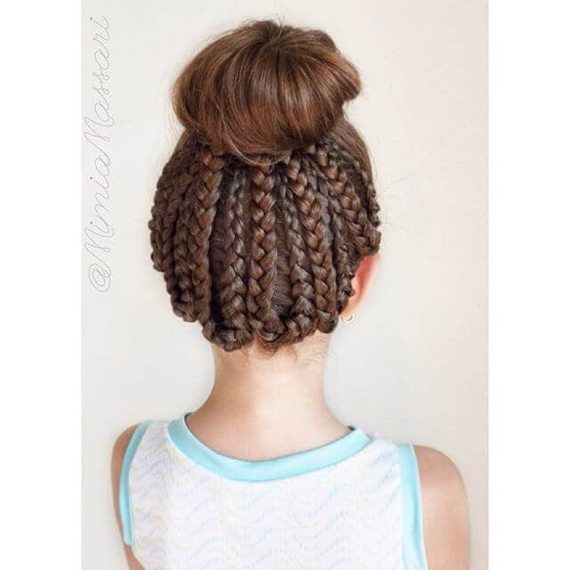 Remarkable Top Knot Style with Braids