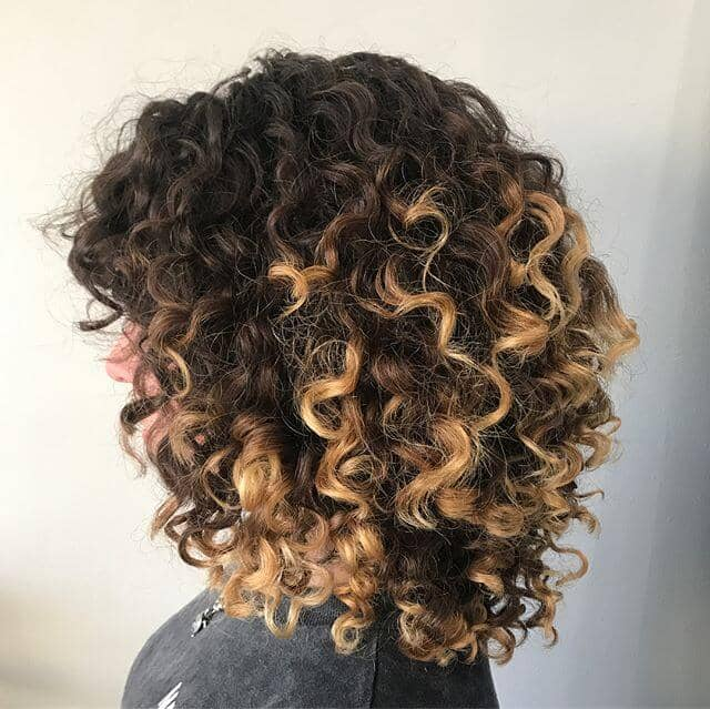 Two-Toned-Twist Short Curly Hair