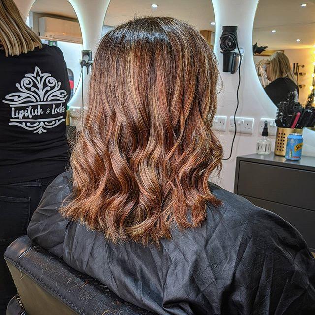 Glamorous Multi-tonal Balayage and Auburn Hairstyle