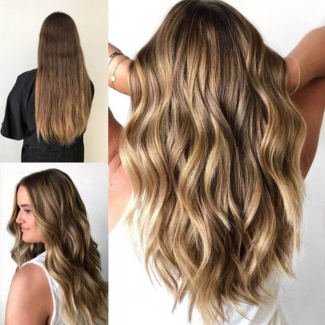 Long Layered Waves with Subtle Highlights