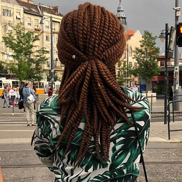 Mid Length Auburn Senegalese Twist Crochet Hair