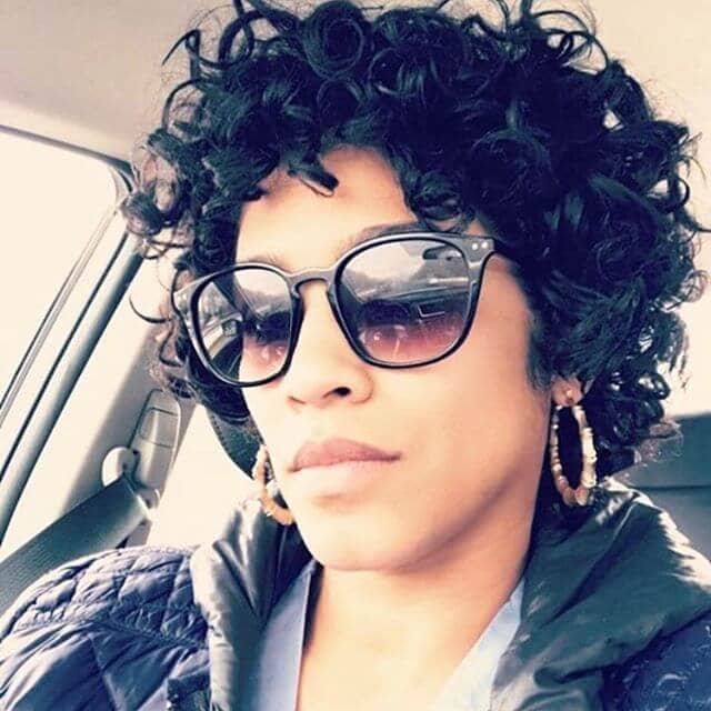 Beautiful Stiff Striking Short Curly Hair