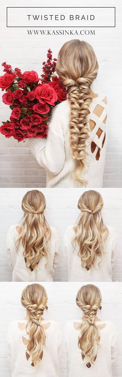 Twisted Long Braids Hairstyles for Special Events