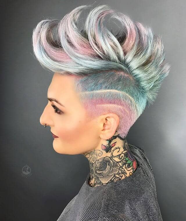 Multi-Colored Mermaid Inspired Faux Hawk
