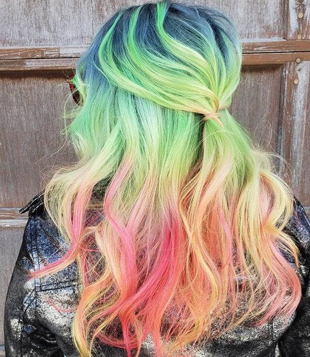 Cool Rainbow Locks for Daring Gals