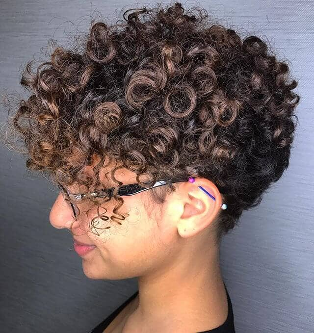 Tight Micro Curls With Close Shaved Neck