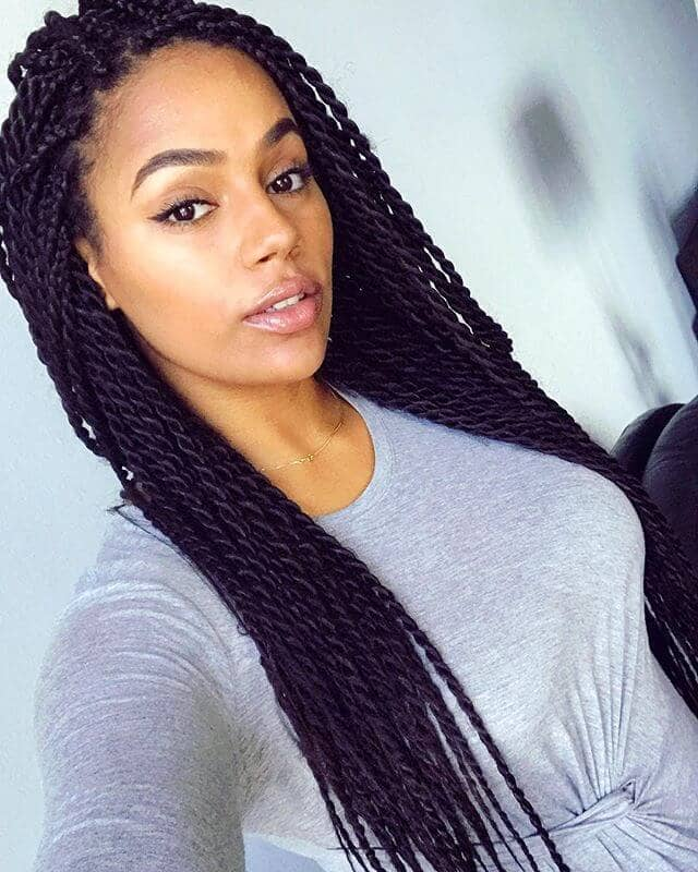 Pretty Deep Purple Crochet Twist Hairstyle