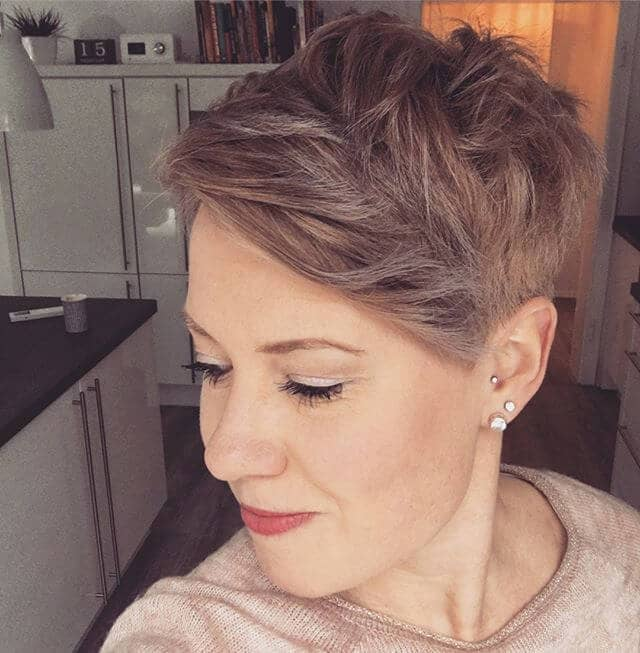 Ultra Short Pixie With Side Swept Bangs