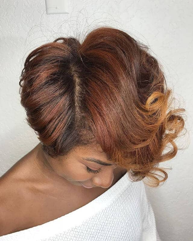 Cute Curl Flips With Side Part