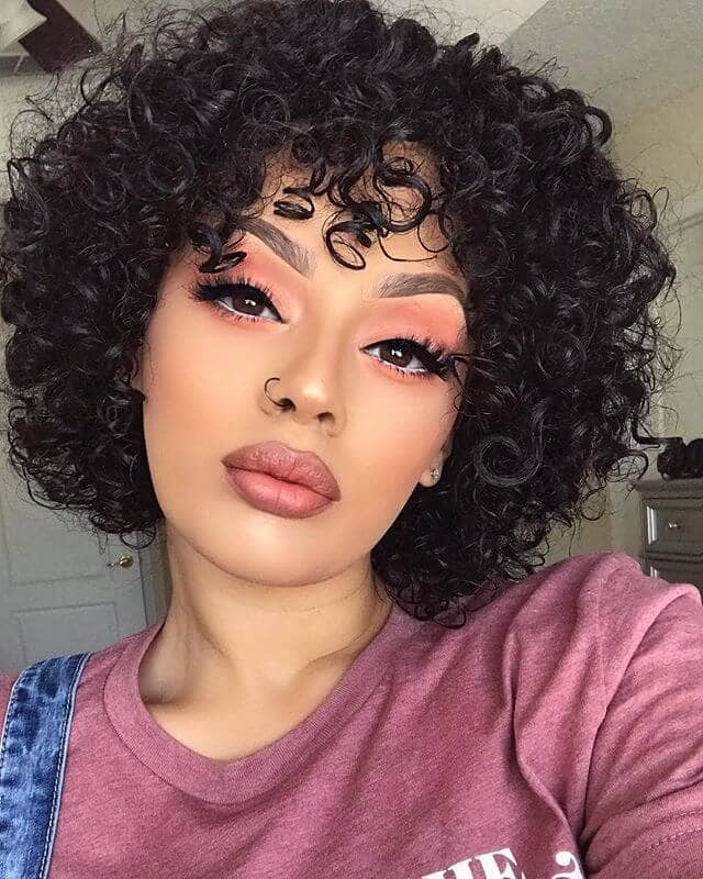 Short Curly Hair that's Colorful & Classic