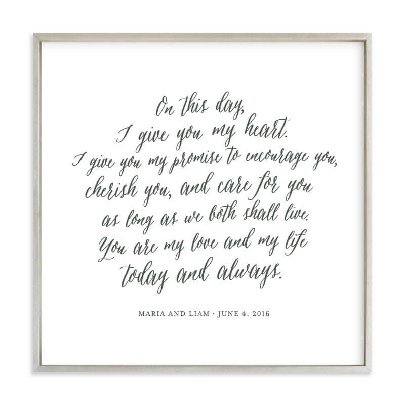 Make Your Vows Into Art