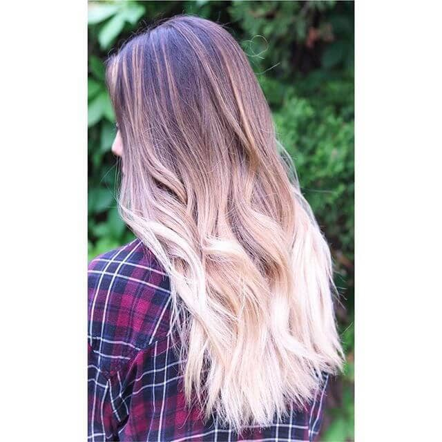 Dramatic Bleached Ombre Ends with Subtle Waves