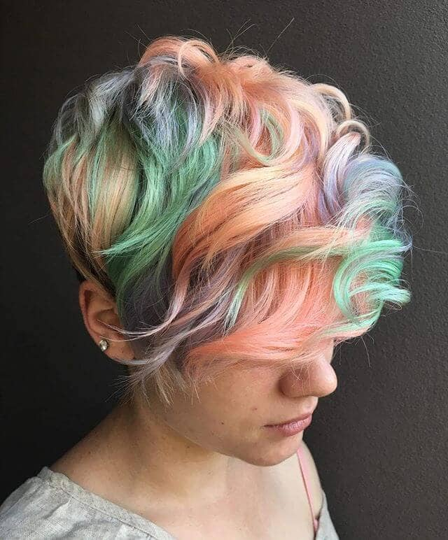 Unicorn And Rainbows Statement Modern Hairstyle